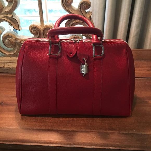 b4a3a88c24e9 Dior Handbags - Christian Dior Red Leather Handbag